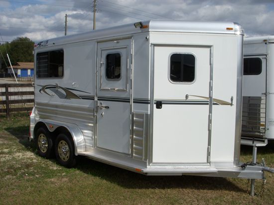 2020 4 Star Deluxe  2 Horse Straight Load Bumperpull Horse Trailer