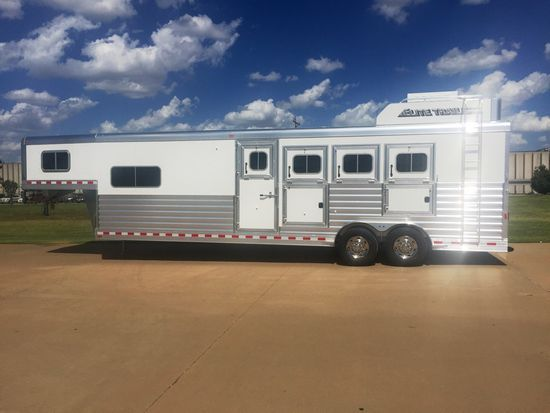 "2021 Elite 10'8"" Outback Conversion  4 Horse Slant Load Gooseneck Horse Trailer With Living Quarters"