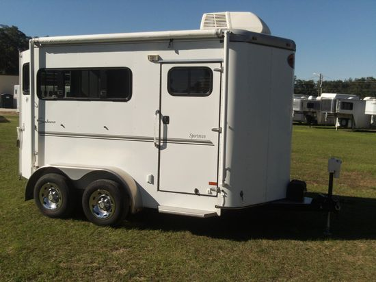 2011 Sundowner Finished Dressing Room  2 Horse Slant Load Bumperpull Horse Trailer