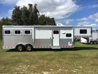 "2021 Elite 10'8"" Outback Conversion  3 Horse Gooseneck Horse Trailer With Living Quarters"