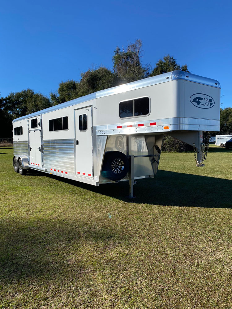 2020 4 Star Head to Head  4 Horse Straight Load Gooseneck Horse Trailer