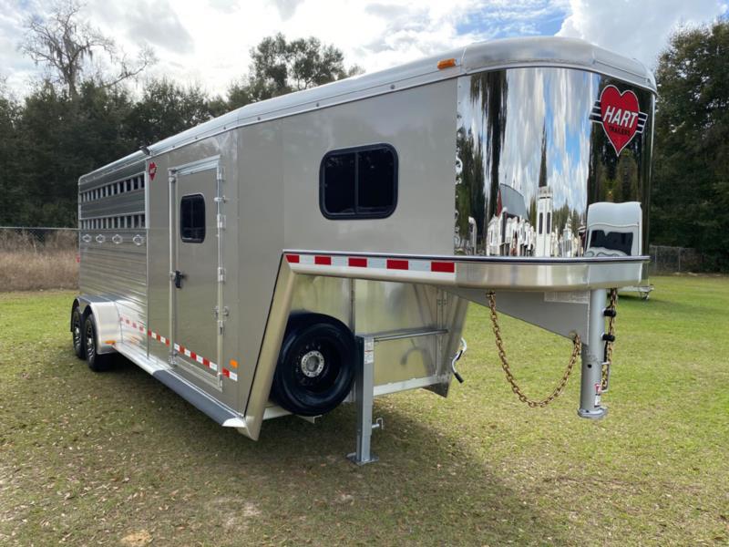 2021 Hart Smart Tack  4 Horse Slant Load Gooseneck Horse Trailer