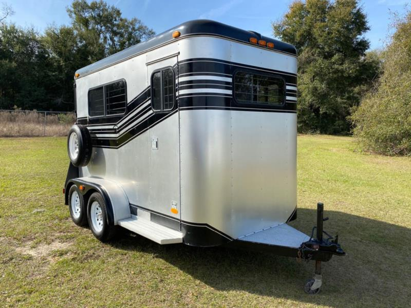 1988 Baron by Trailet   2 Horse Straight Load Bumperpull Horse Trailer SOLD!!!