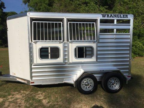 2017 Elite Wrangler  2 Horse Slant Load Bumperpull Horse Trailer