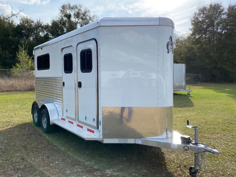 2020 Adams   2 Horse Straight Load Bumperpull Horse Trailer