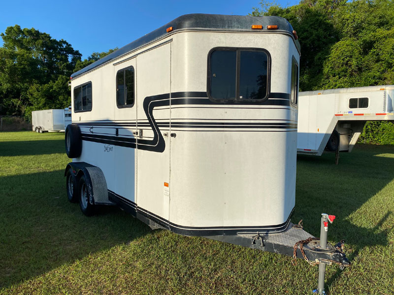 2001 Equispirit   2 Horse Straight Load Bumperpull Horse Trailer SOLD!!!