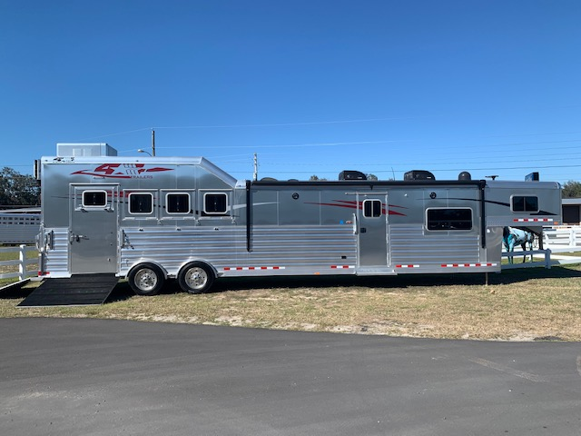 2021 4 Star 18' Outback Conversion  4 Horse Slant Load Gooseneck Horse Trailer With Living Quarters SOLD!!!