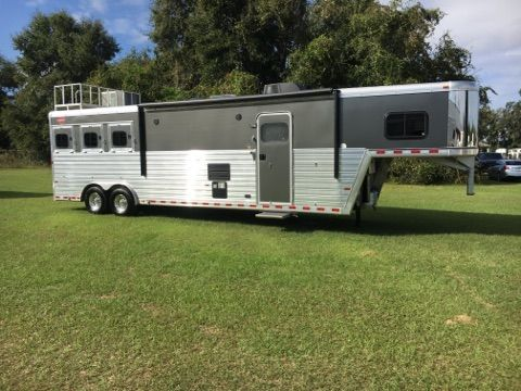2017 Hart Trail Boss Conversion  3 Horse Slant Load Gooseneck Horse Trailer With Living Quarters SOLD!!!