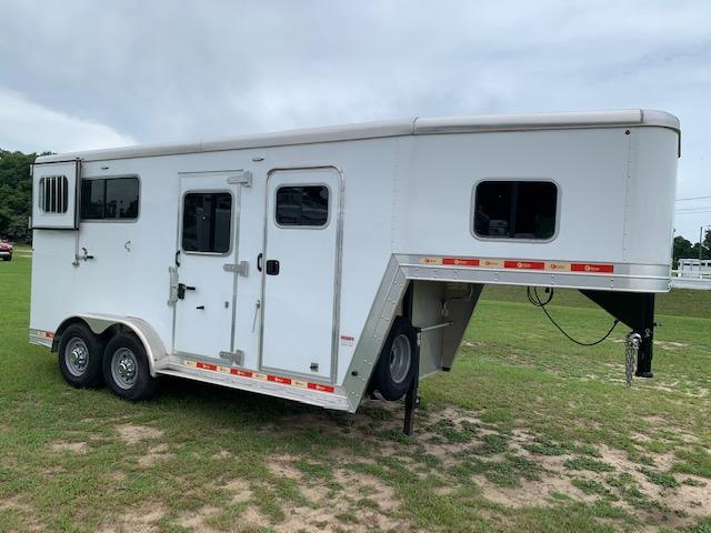 2019 Kiefer   2 Horse Straight Load Gooseneck Horse Trailer SOLD!!!