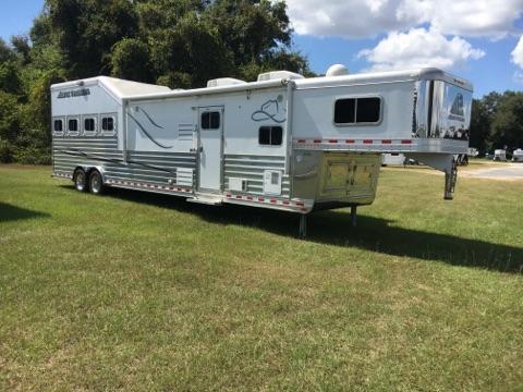 2014 Elite Trail Boss Conversion  4 Horse Slant Load Gooseneck Horse Trailer With Living Quarters SOLD!!!