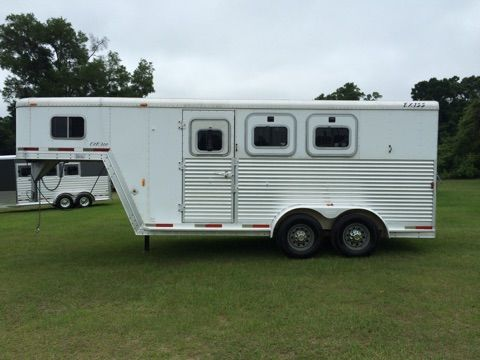 2003 Exiss Stock Combo  3 Horse Slant Load Gooseneck Horse Trailer SOLD!!!
