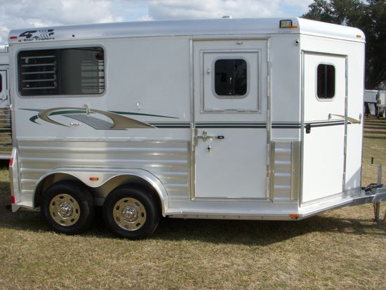 2019 4 Star Deluxe  2 Horse Straight Load Bumperpull Horse Trailer