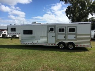 "2019 Elite 10'8"" Outback Conversion  3 Horse Gooseneck Horse Trailer With Living Quarters"