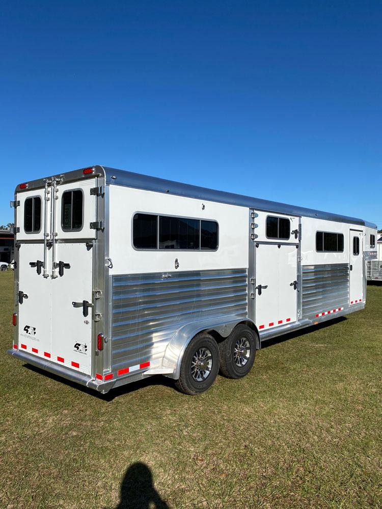 2020 4 Star Head to Head  4 Horse Straight Load Gooseneck Horse Trailer