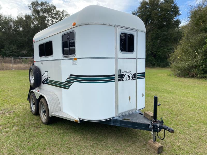 2002 Trailers USA   2 Horse Straight Load Bumperpull Horse Trailer SOLD!!!