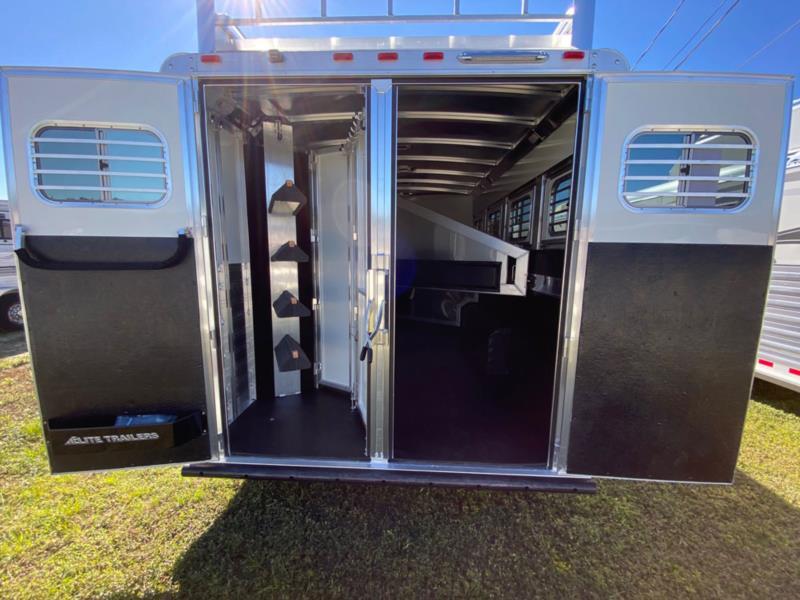 2020 Elite   4 Horse Slant Load Gooseneck Horse Trailer With Living Quarters