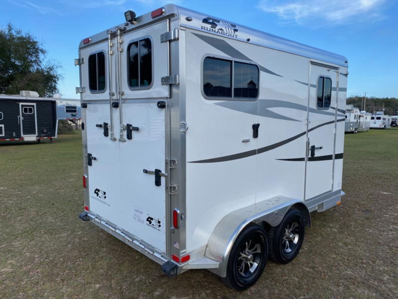 2021 4 Star   2 Horse Straight Load Bumperpull Horse Trailer