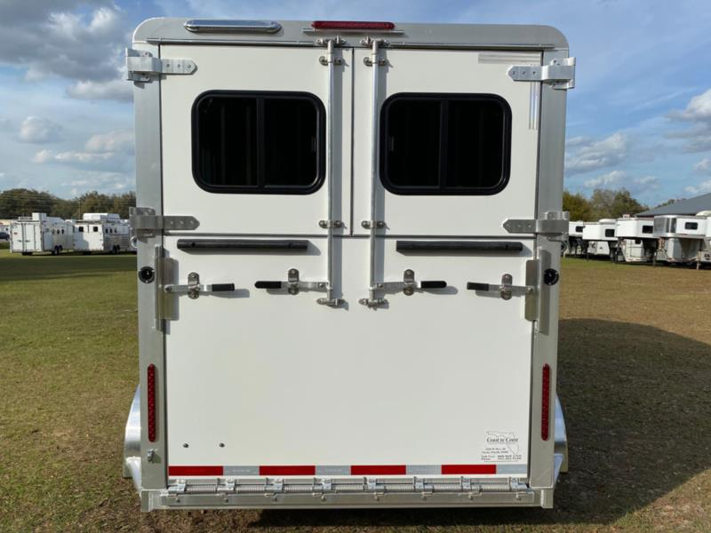 2021 Adams   2 Horse Straight Load Bumperpull Horse Trailer