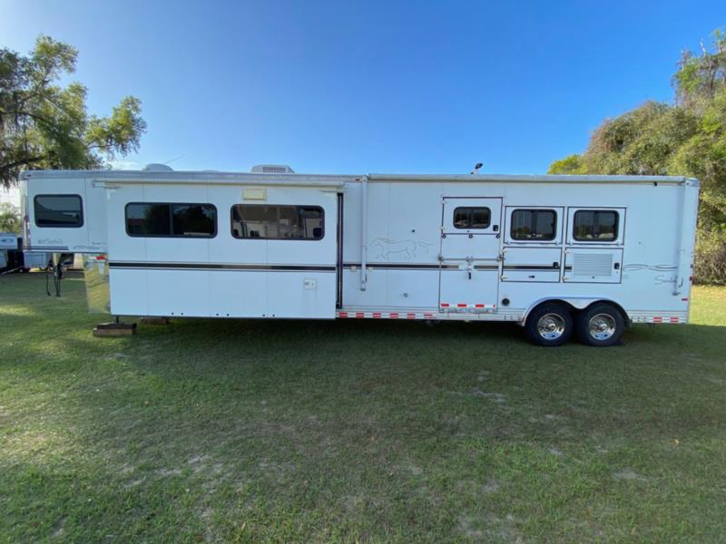 2007 Sundowner 8019  3 Horse Slant Load Gooseneck Horse Trailer With Living Quarters SOLD!!!