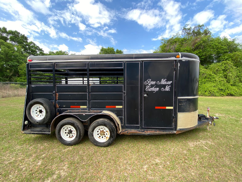 1999 WW Stock  3 Horse Slant Load Bumperpull Horse Trailer SOLD!!!