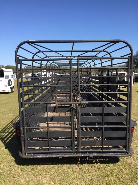 2006 Homemade Cattle Trailer Gooseneck
