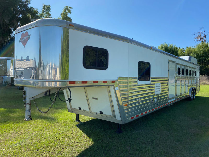 2008 Hart with Large Mid Tack  6 Horse Slant Load Gooseneck Horse Trailer With Living Quarters SOLD!!!