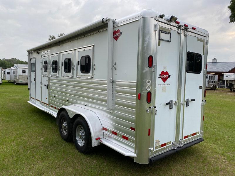 2009 Hart with Large Dressing Room  4 Horse Slant Load Gooseneck Horse Trailer SOLD!!!