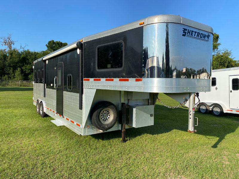 2013 Shetron 11' short wall  3 Horse Slant Load Gooseneck Horse Trailer With Living Quarters SOLD!!!