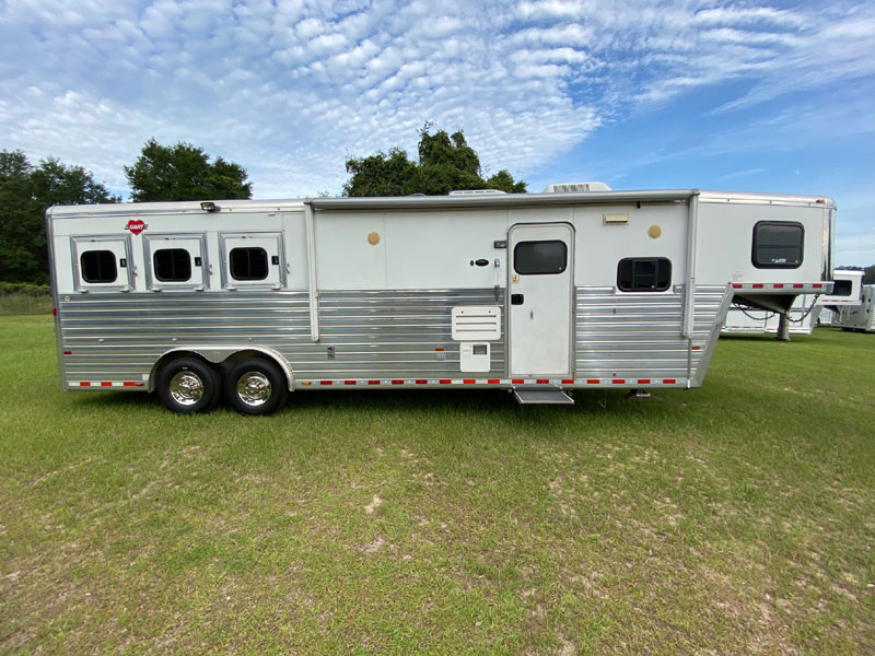 2005 Hart 13' Outlaw Conversion  3 Horse Slant Load Gooseneck Horse Trailer With Living Quarters SOLD!!!
