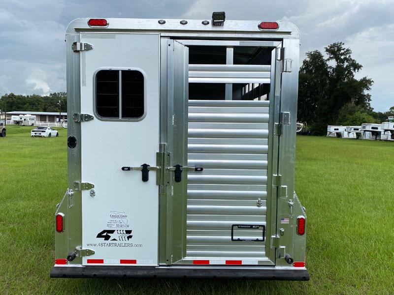 2022 4 Star Stock Combo  3 Horse Slant Load Bumperpull Horse Trailer SOLD!!!