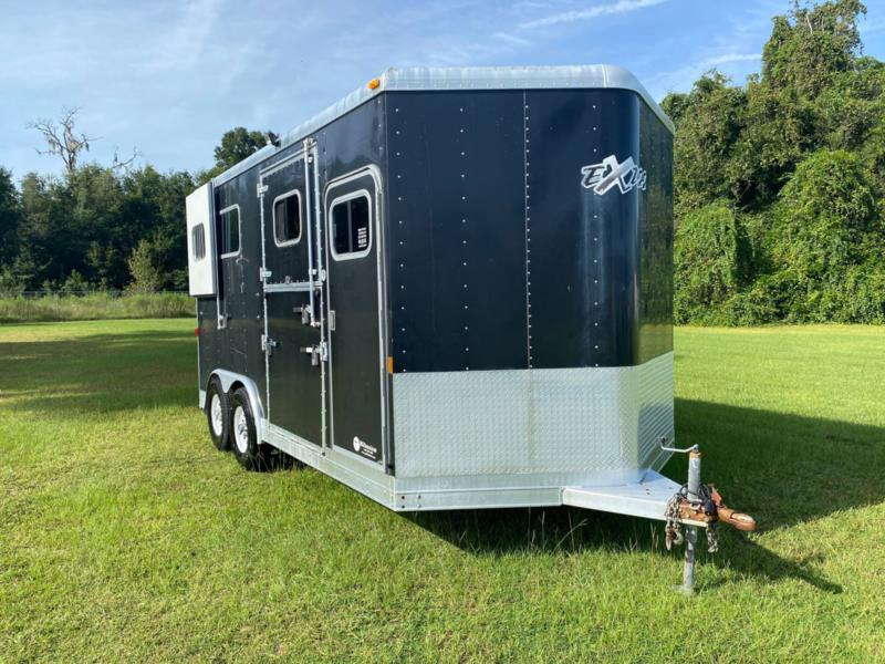 2008 Exiss   2 Horse Straight Load Bumperpull Horse Trailer SOLD!!!