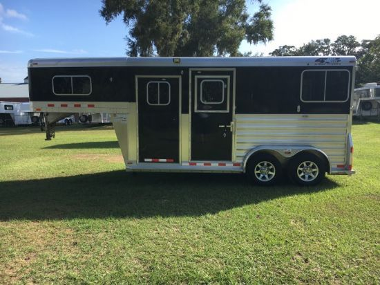 2016 4 Star Extra Tall  2 Horse Straight Load Gooseneck Horse Trailer SOLD!!!