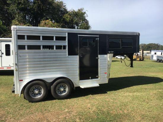 2014 Sundowner Stock Combo  2 Horse Slant Load Gooseneck Horse Trailer