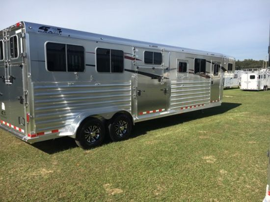 2019 Fourstar Head to Head  4 Horse Gooseneck Horse Trailer