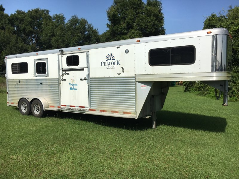 2012 Adams 2+1  2 Horse Straight Load Gooseneck Horse Trailer SOLD!!!