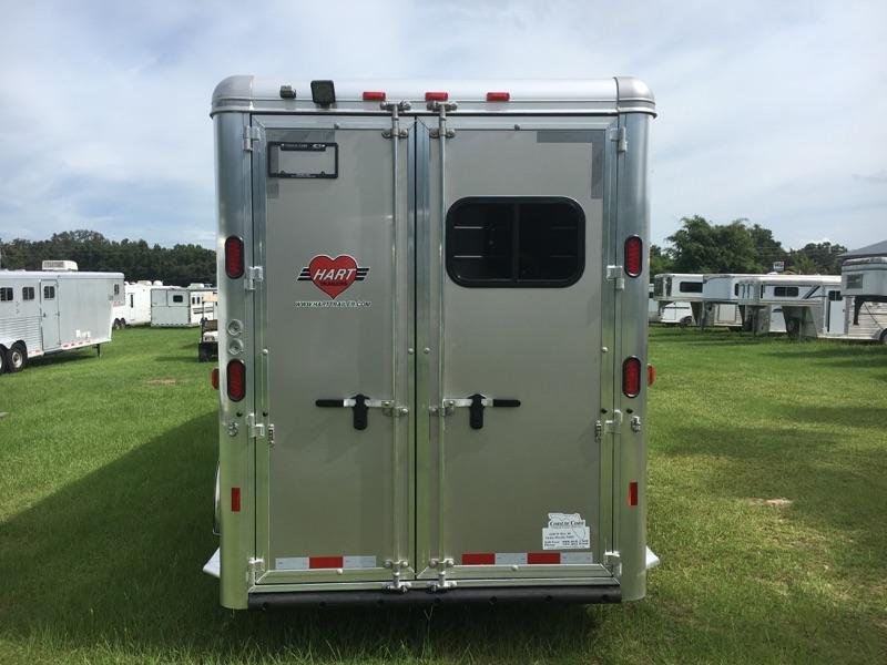 2021 Hart Camper  4 Horse Slant Load Gooseneck Horse Trailer