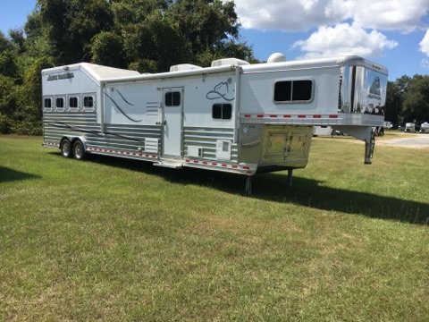 2014 Elite Trail Boss Conversion  4 Horse Slant Load Gooseneck Horse Trailer With Living Quarters SOLD!!!
