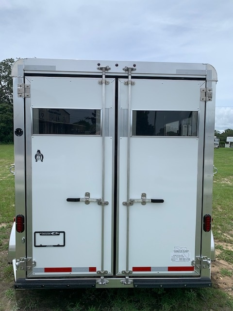 2021 Adam Stock Combo  2 Horse Slant Load Bumperpull Horse Trailer